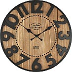FirsTime® Langton Wall Clock in Brown