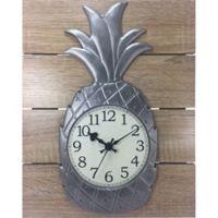 Pineapple Slatwood Wall Clock in Tan