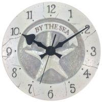 Starfish Wall Clock in White