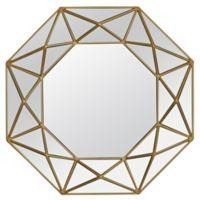 Veraluz Casa Geo Painted 31.5-Inch Octagonal Wall Mirror in Gold