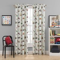 Waverly Kids Can You Dig It 84-Inch Rod Pocket Room Darkening Window Curtain Panel in Ivory