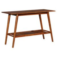 Linon Home Charlotte Console Table in Brown