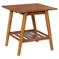 Linon Home Charlotte End Table in Brown