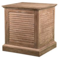 Southern Enterprises Abram Louvered Trunk End Table in Oak
