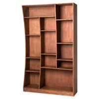 Moe's Home Collection Right-Facing Niagara Cube Bookcase in Light Brown