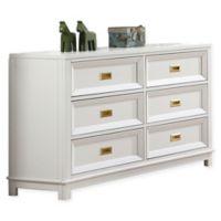 Campaign Wooden 6-Drawer Dresser in White