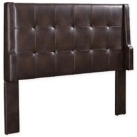 Linon Home Lenna Vinyl Full/Queen Headboard in Sable