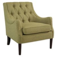 Abbyson Living Payton Linen Accent Chair in Lime Green