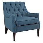Abbyson Living Payton Linen Accent Chair in Teal Blue