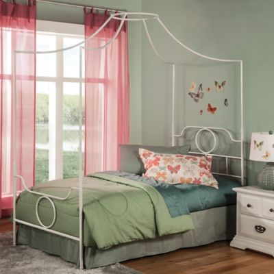 Fashion Bed Group Emsworth Twin Kids Metal Canopy Bed in White & Buy Kids Bedding Canopy from Bed Bath u0026 Beyond