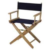 American Trails Extra-Wide Premium 18-Inch Directors Chair in Natural/Navy