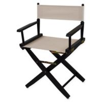 American Trails Extra-Wide Premium 18-Inch Directors Chair in Black/Natural