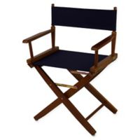American Trails Extra-Wide Premium 18-Inch Directors Chair in Oak/Navy