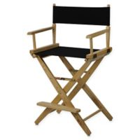 American Trails Extra-Wide Premium 24-Inch Directors Chair in Natural/Black