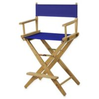American Trails Extra-Wide Premium 24-Inch Directors Chair in Natural/Royal Blue