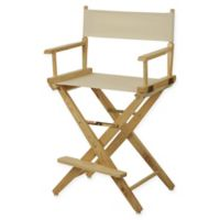 American Trails Extra-Wide Premium 24-Inch Directors Chair in Natural/Natural