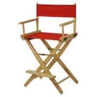 American Trails Extra-Wide Premium 24-Inch Directors Chair in Natural/Red