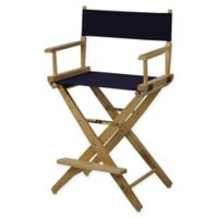 American Trails Extra-Wide Premium 24-Inch Directors Chair in Natural/Navy