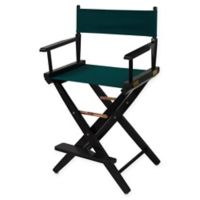 American Trails Extra-Wide Premium 24-Inch Directors Chair in Black/Green