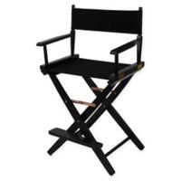 American Trails Extra-Wide Premium 24-Inch Directors Chair in Black/Black