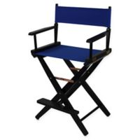 American Trails Extra-Wide Premium 24-Inch Directors Chair in Black/Royal Blue