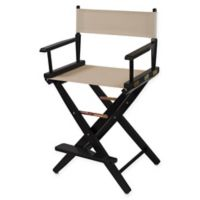 American Trails Extra-Wide Premium 24-Inch Directors Chair in Black/Natural