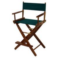 American Trails Extra-Wide Premium 24-Inch Directors Chair in Oak/Green