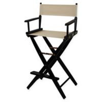 American Trails Extra-Wide Premium 30-Inch Directors Chair in Black/Natural