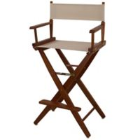 American Trails Extra-Wide Premium 30-Inch Directors Chair in Oak/Natural