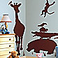 RoomMates Animal Silhouette Peel & Stick Decal in Brown