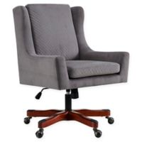 Linon Home Darcy Office Chair in Grey