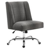 Linon Home Draper Office Chair in Grey Dot/Chrome