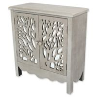 River of Goods Willow Tree 2-Door Cabinet in Silver