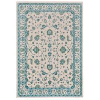 Feizy Burley 1-Foot 8-Inch x 2-Foot 10-Inch Accent Rug in Blue/Tan