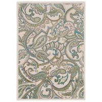 Feizy Burley Paisley 1-Foot 8-Inch x 2-Foot 10-Inch Accent Rug in Blue/Tan