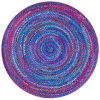 nuLOOM Tammara Nomad Braided 4-Foot x 6-Foot Oval Area Rug in Blue