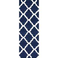 nuLOOM Marrakech Trellis 2-Foot 6-Inch x 10-Foot Runner in Navy Blue