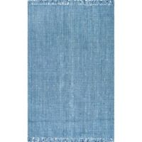 nuLoom Chunky Loop Jute 7-Foot 6-Inch x 9-Foot 6-Inch Area Rug in Blue