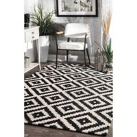nuLOOM Kellee 5-Foot x 8-Foot Area Rug in Black