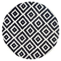 nuLOOM Kellee 6-Foot Round Area Rug in Black