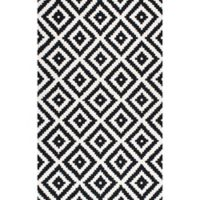 nuLOOM Kellee 6-Foot Square Area Rug in Black
