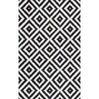 nuLOOM Kellee 7-Foot 6-Inch x 9-Foot 6-Inch Area Rug in Black