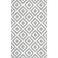 nuLOOM Kellee 7-Foot 6-Inch x 9-Foot 6-Inch Area Rug in Grey