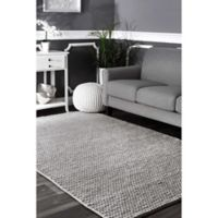 nuLOOM Chunky Woolen Cable 5-Foot x 8-Foot Area Rug in Light Grey