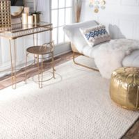 nuLOOM Chunky Woolen Cable 6-Foot Square Area Rug in Off-White