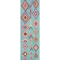 nuLOOM Belini 2-Foot 6-Inch x 10-Foot Runner in Turquoise