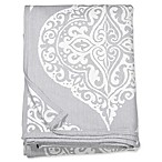 Peri Home Woven Damask King Blanket in Grey