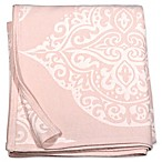 Peri Home Woven Damask Full/Queen Blanket in Blush
