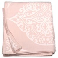 Peri Home Woven Damask King Blanket in Blush