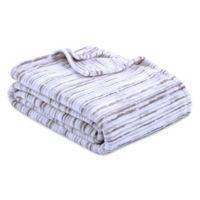 Berkshire Blanket® VelvetLoft® Watercolor Full/Queen Blanket in Grey